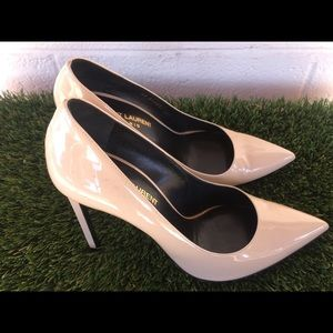Saint Laurent Paris Skinny Pointy Toe Pumps Sz38.5